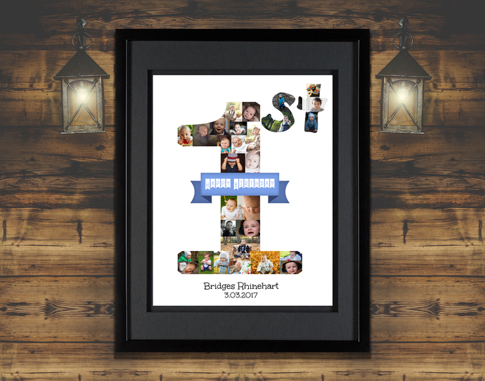 St anniversary gifts for wife collage wedding poster wedding