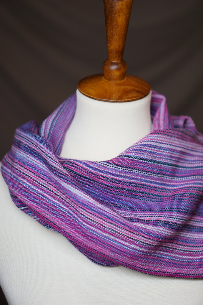 Pink/Purple Cowl with Snaps