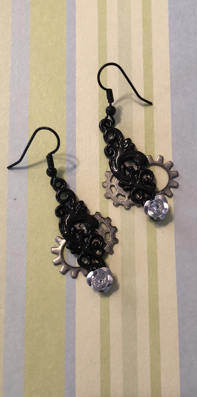 Dark Pendulum Earrings