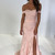 Zibbet Dresses Gorgeous Off the Shoulder Pink Mermaid Lace Long Party Dress with