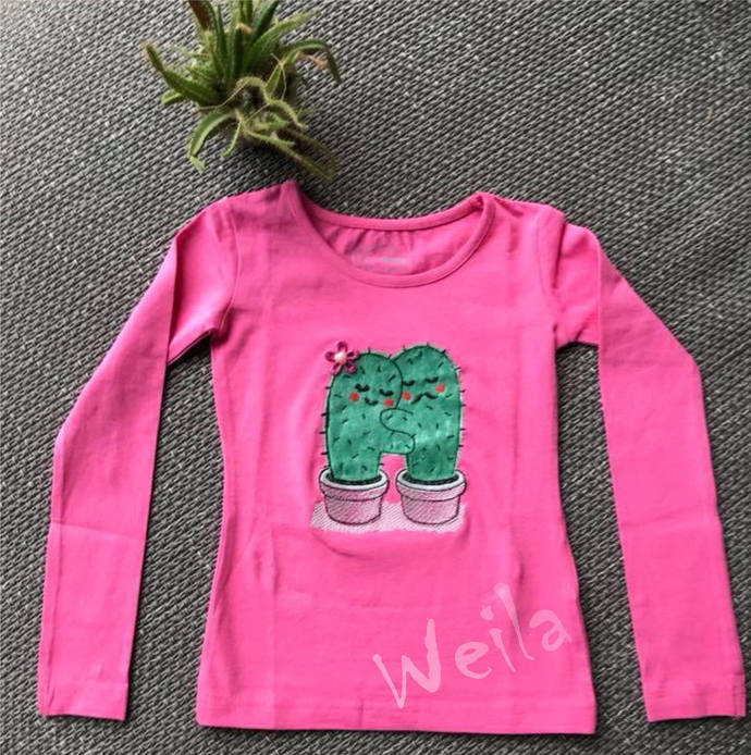 Cactus Love Prickly Love Hug Cactus By Weilaembroiderydesign On