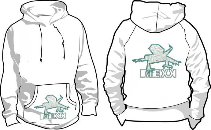 Machine Embroidery Design M E XX set logo+3 lizards  pretty embroidery project