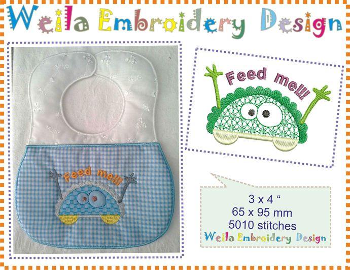 Free Design- Pocket monster  1p Machine Embroidery Design Patterns bibs freebie