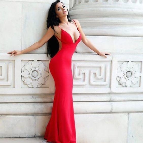 Prom Dress,Sleeveless Prom Dresses,Red by prom dresses on Zibbet