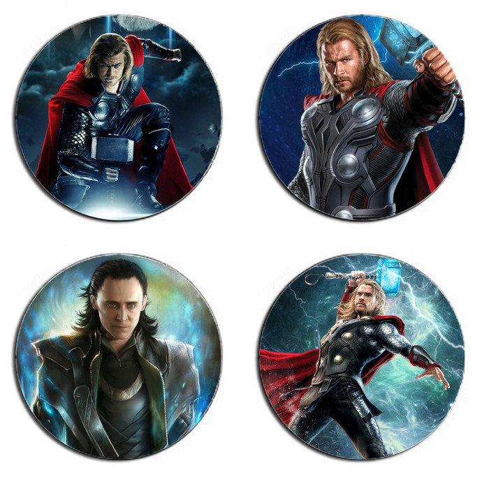 Thor Set wooden Drink Coasters