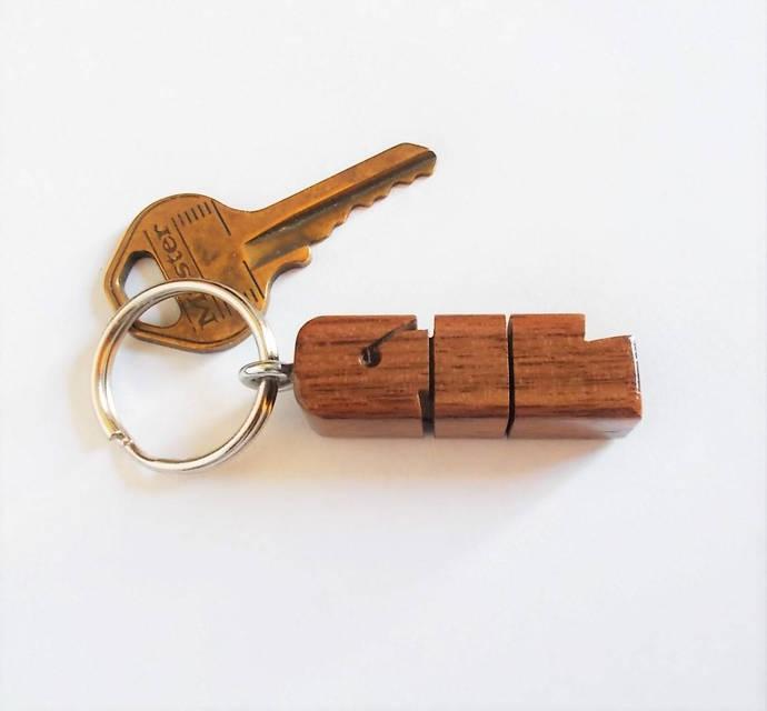 GIL - Sample Name Keychain in Walnut Wood