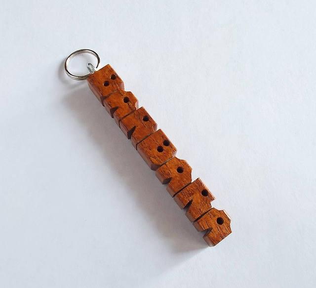 """BARBARA - Sample Name """"MiniTag"""" in Mesquite Wood"""