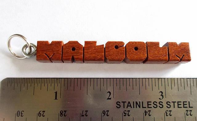 "MALCOLM - Sample Name ""MiniTag"" in Cumaru Wood"