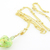 Light Green Venetian Heart Necklace - venetian glass, gold filled, gold leaf,