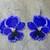 Pansy Earrings Hand Made Seed Beaded