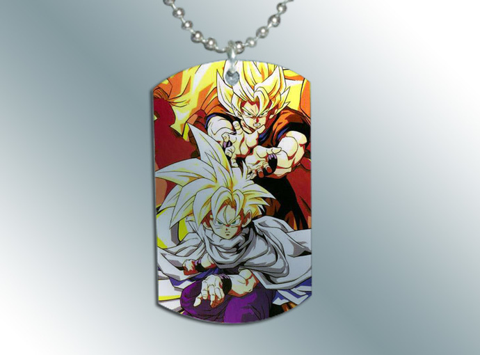 DRAGONBALL Goku Gohan Dog Tag Necklace