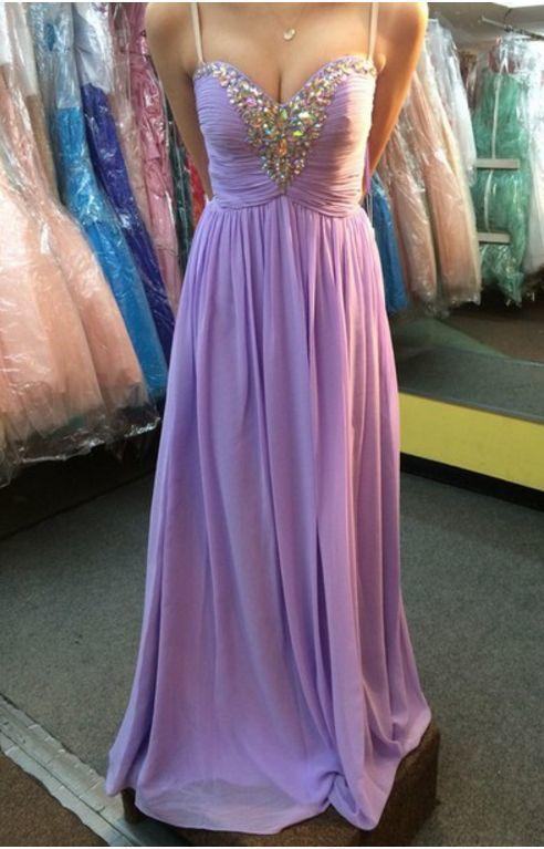 Charming Prom Dress,Spaghetti straps,V neck , Long Prom Dresses, Long Evening