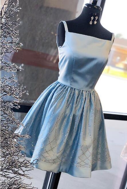 Cute A-Line Beading Homecoming Dresses,Short Prom Dresses,Cheap Homecoming