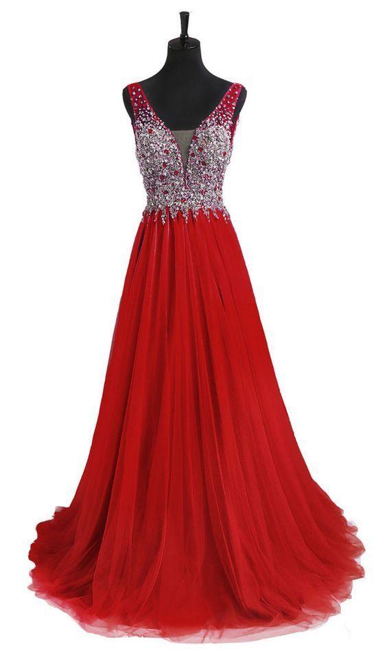 Charming Prom Dress, Sleeveless, Long Prom Dress, Beading Applique Prom