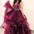 V Neck Burgundy Long Prom Dress Quinceanera Dress