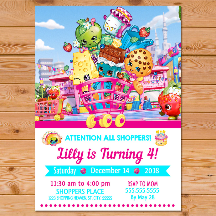 picture about Shopkins Printable Invitations titled Shopkins Invitation White Purple * Shopkins Invite * Shopkins Birthday Celebration * Shopkins Bash Printables