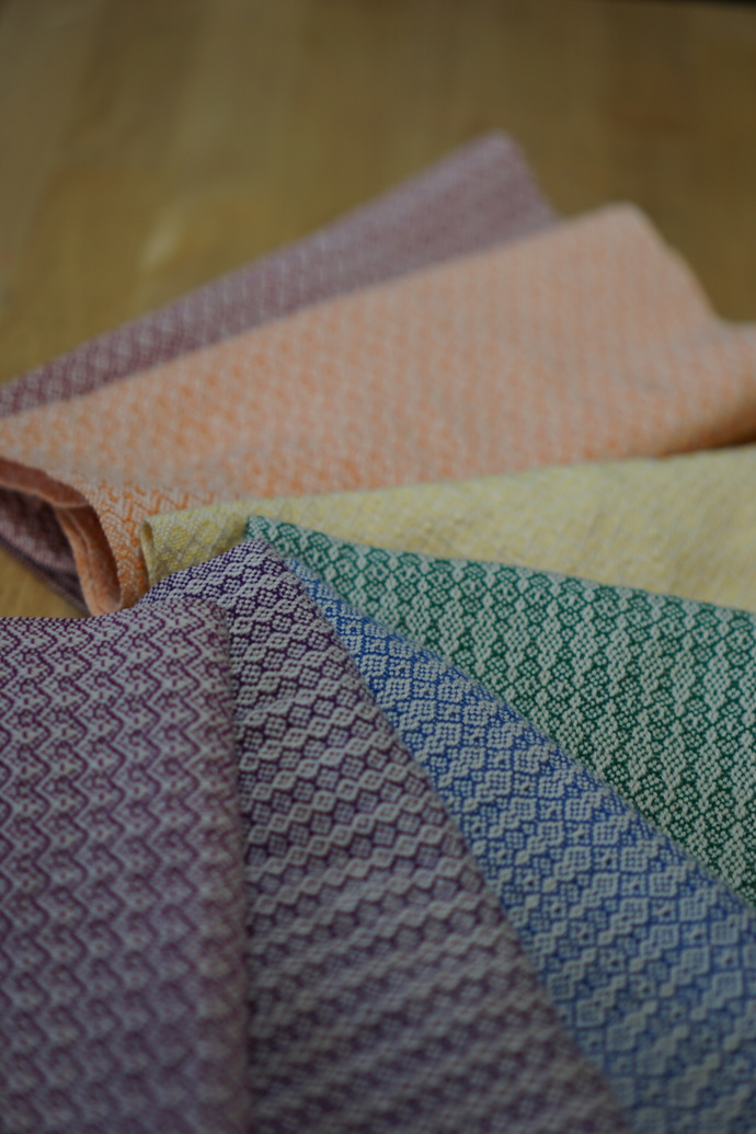 Rainbow Roll of Handwoven Un-Paper Towels