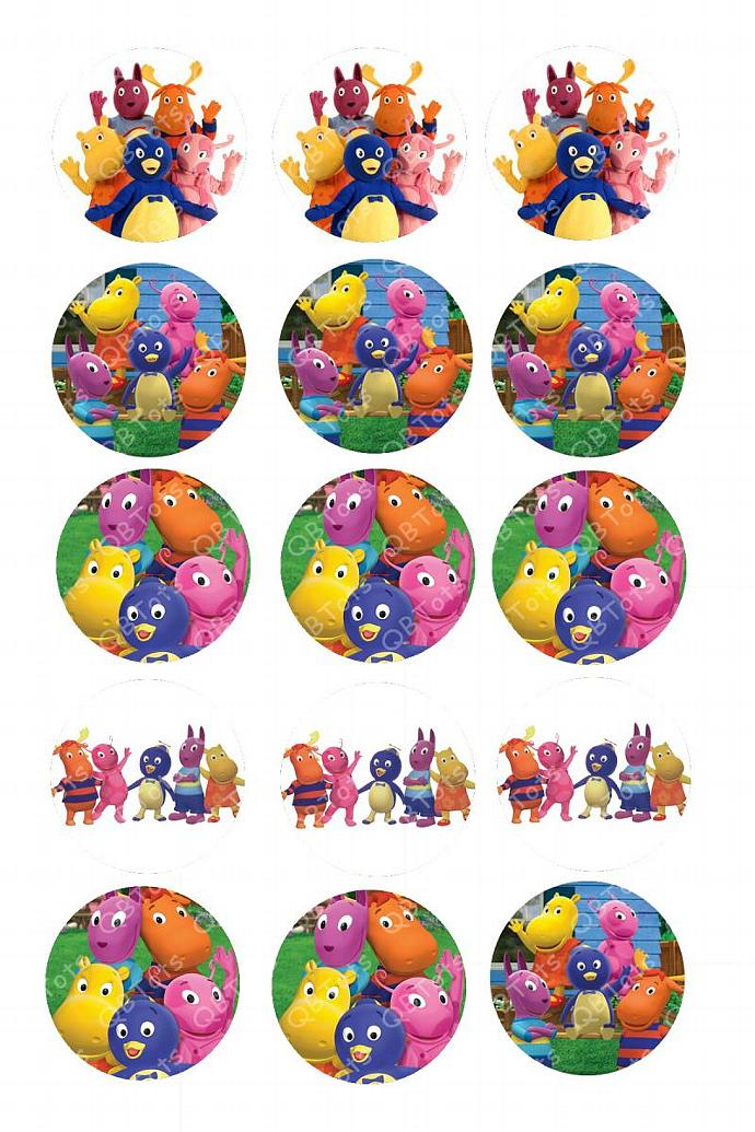 Backyardigans Digital Image Collage 1 inch Circles
