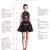 Two Piece Chiffon Rhinestones Homecoming Dresses,short homecoming dress,Knee