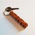 Amboyna Burl and Maple Wood Name Keychain, Carved to Order