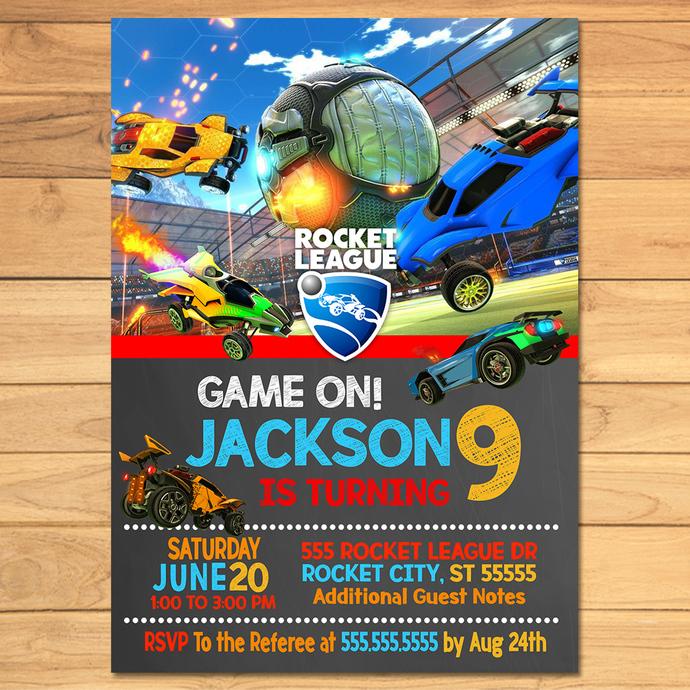 Rocket League Birthday Invitation Chalkboard * Rocket League Invite * Rocket