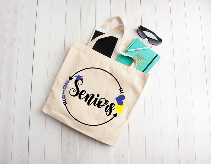Seniors, Class of 2018, Graduation gift, class of 2018, tote bag, one of a kind