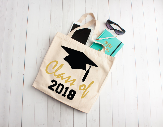 Class of 2018, Graduation gift, class of 2018, tote bag, one of a kind gift