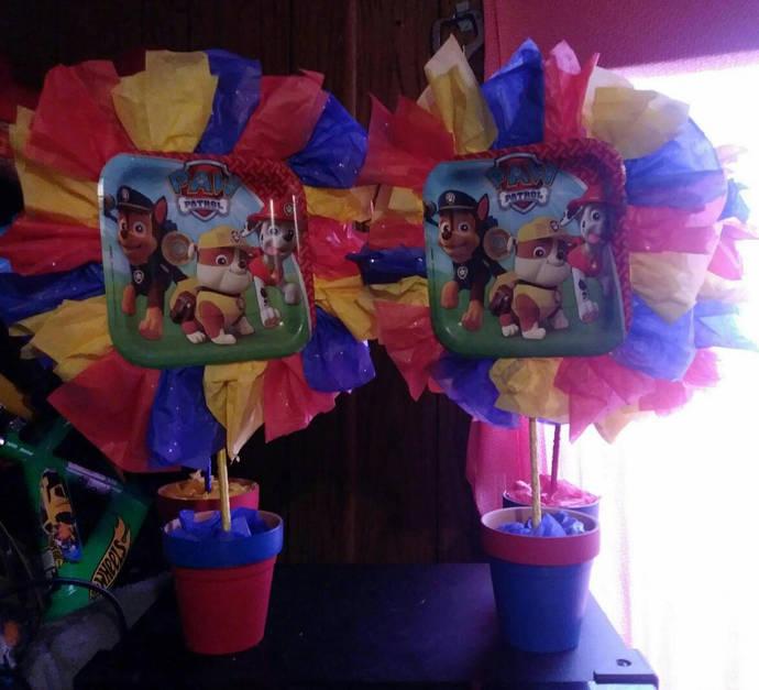 Paw Patrol Centerpiecepaw Birthday Decorations First