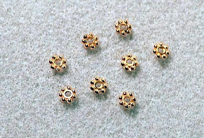 Golden Daisy Spacers- spacer beads