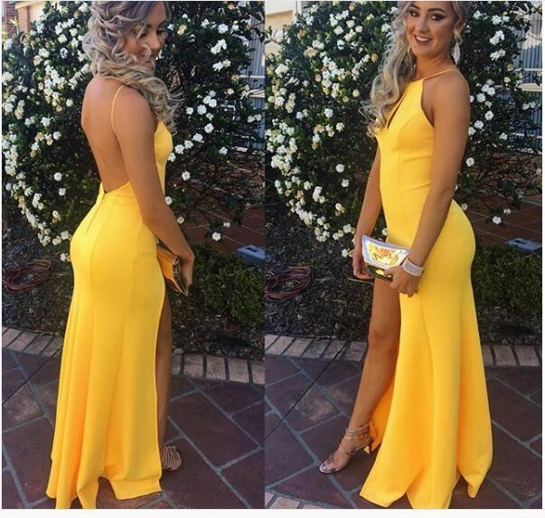 Formal Dresses Yellow