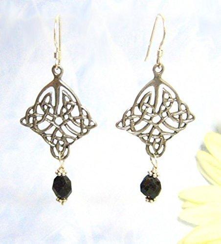 Celtic Onyx Sterling Silver Earrings