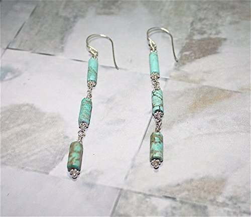 Turquoise Drop Sterling Silver Earrings