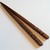 Name Chopsticks in Walnut Wood, Personalized, Custom Carved to Order