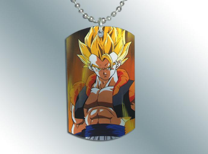 Dragonball Z GT Goku Vegetto Dog Tag Necklace