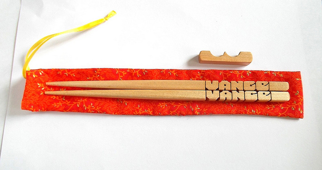 Name Chopsticks in Maple Wood, Personalized, Custom Carved to Order