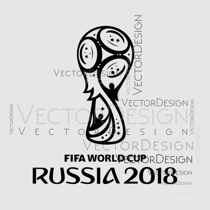 Fifa world cup Russia 2018 Logo Graphics SVG Dxf EPS Png Cdr Ai Pdf Vector Art