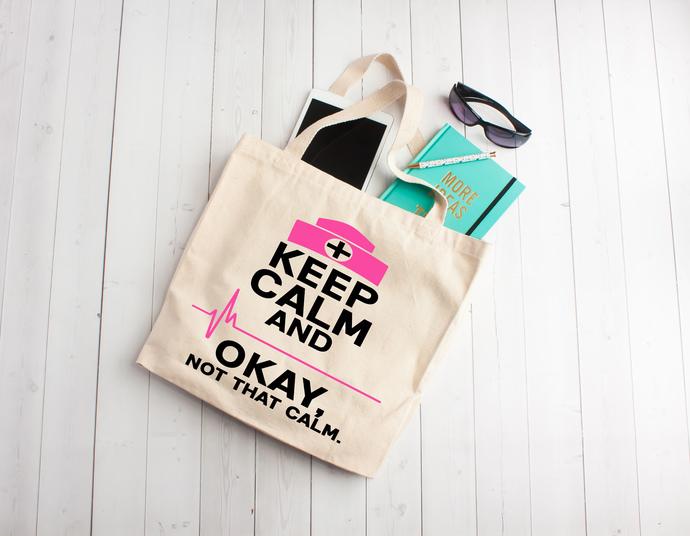 Trauma Queen, Nurse tote bag, Cotton Tote Bag, nurse party, gifts for nurses,