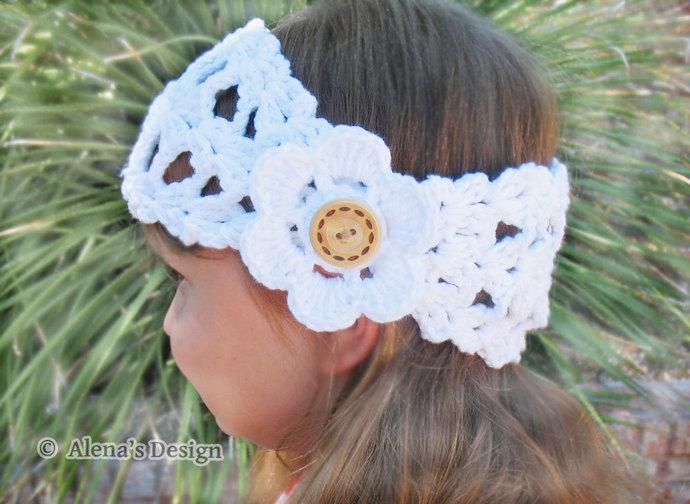 Crochet Pattern 078 for Headband Ella - by AlenasDesign on Zibbet