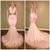 Gorgeous Long Sleeve V-Neck Prom Dress Mermaid With Gold Crystal