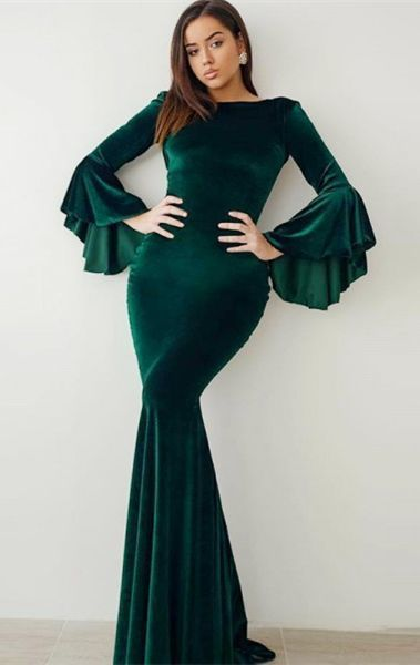 28a3104bda0 modest green velvet prom dresses with by prom dresses on Zibbet