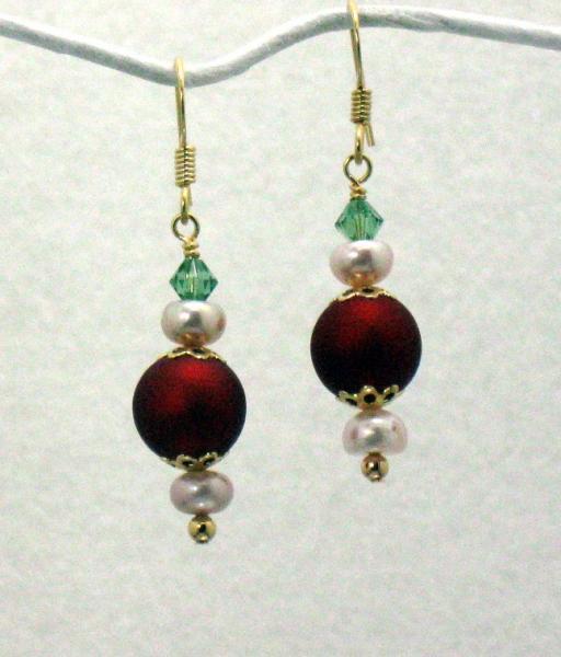 Berries and Pearls Earrings