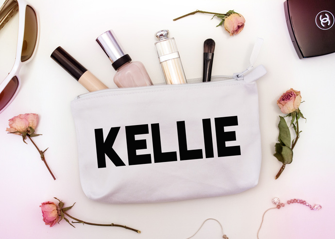 Makeup Bags with sayings, personalized toiletry bag, custom Makeup Pouch,