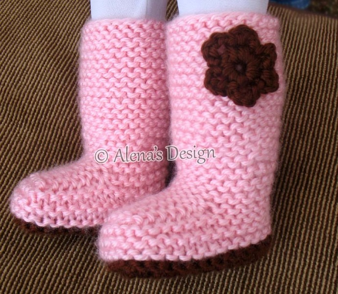 18 inch Doll Boots Free Knitting Pattern Crochet Flower Pink Boots American Doll