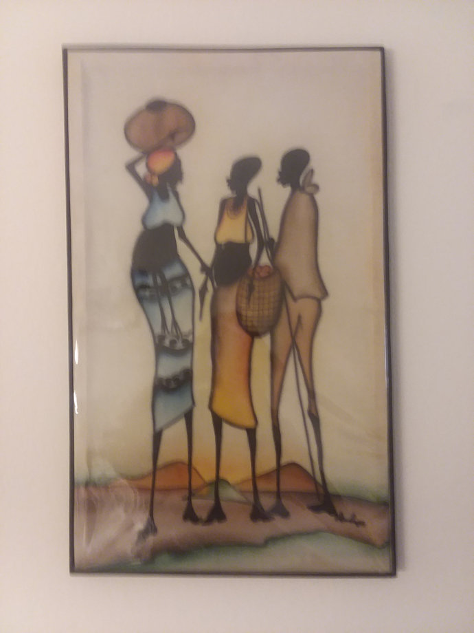 Hand painted African on canvas