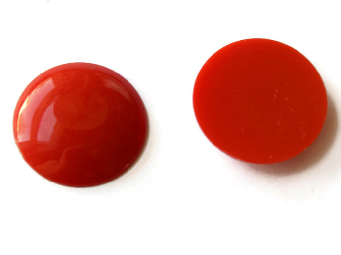 11 21mm Red Round Cabochons Vintage Lucite Cabochons Vintage Plastic Cabs