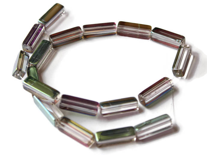 Crystal Rectangle Tube Beads Full Strand Beads Jewelry Making Beading Supplies