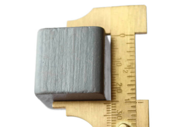 6 25mm Grey Wood Beads Cube Beads Vintage Wooden Beads Square Beads Chunky Beads