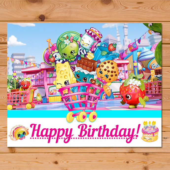 shopkins happy birthday sign white and by partyprintables37 on zibbet