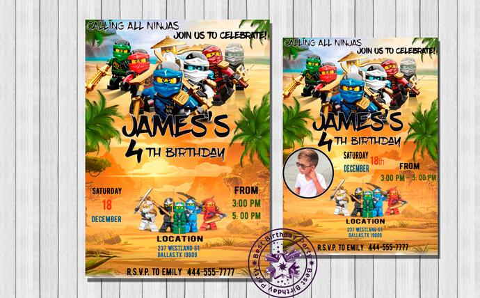 Lego ninjago invitation lego ninjago by bestbirthdayparty on zibbet lego ninjago invitation lego ninjago birthday lego ninjago birthday stopboris Images
