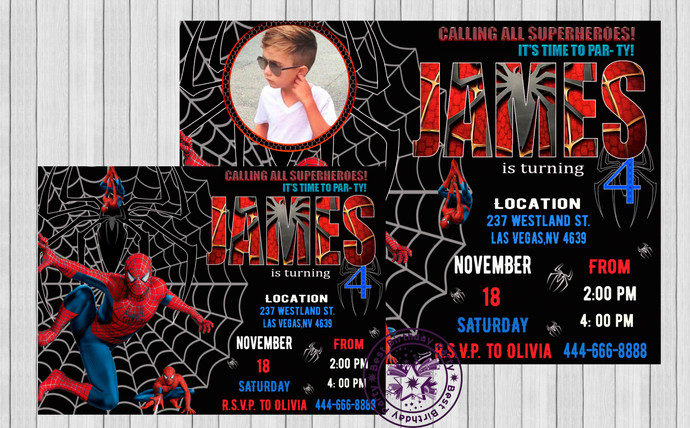 Spiderman Invitation Birthday By BestBirthdayParty On